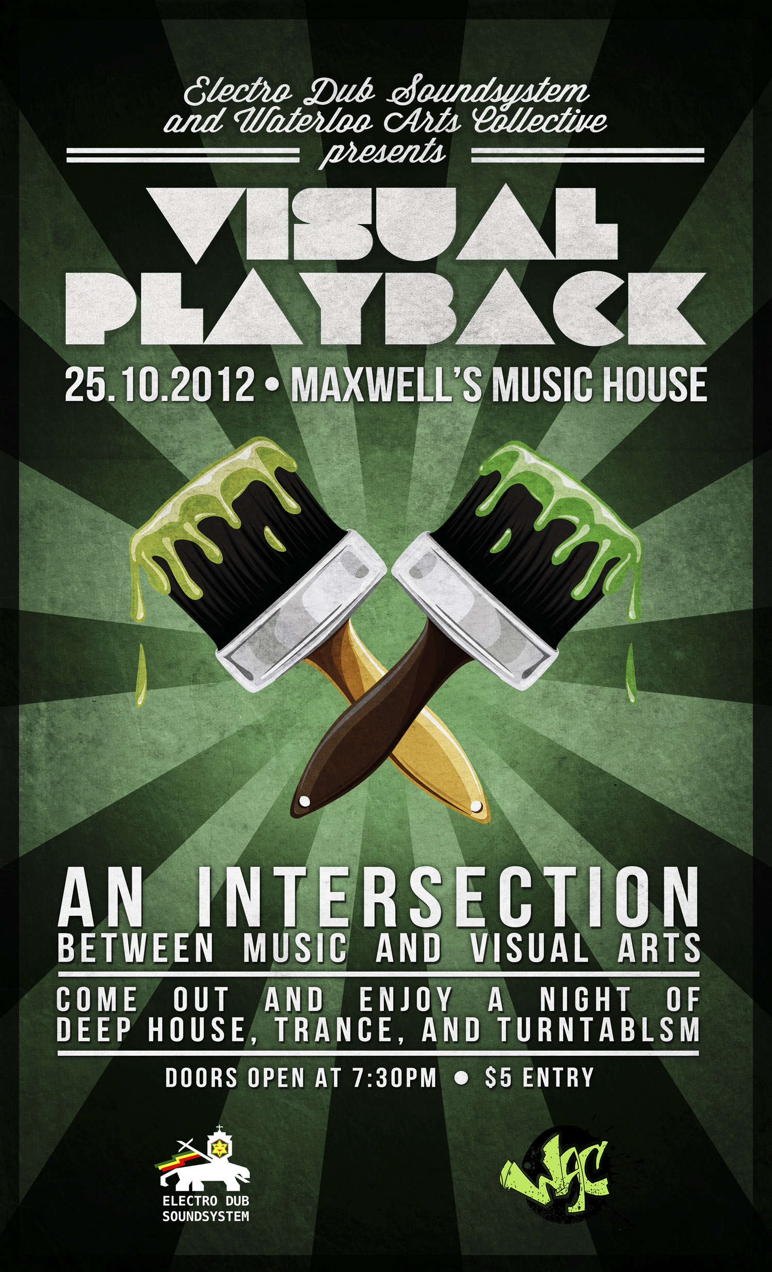 Visual Playback – TONIGHT at Maxwell's Music House