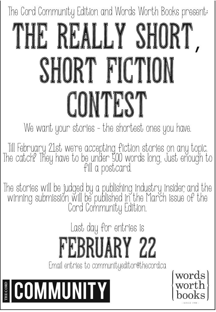 The very short, short fiction contest