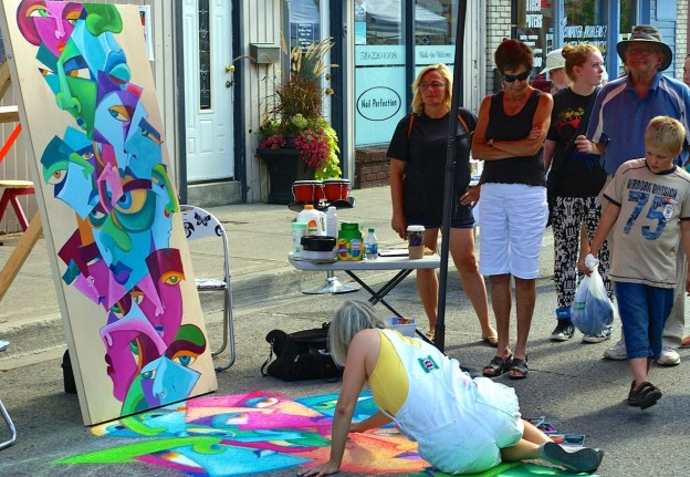 Art happening in the street during A Day & A Night. • PHOTO COURTESY A Day & A Night