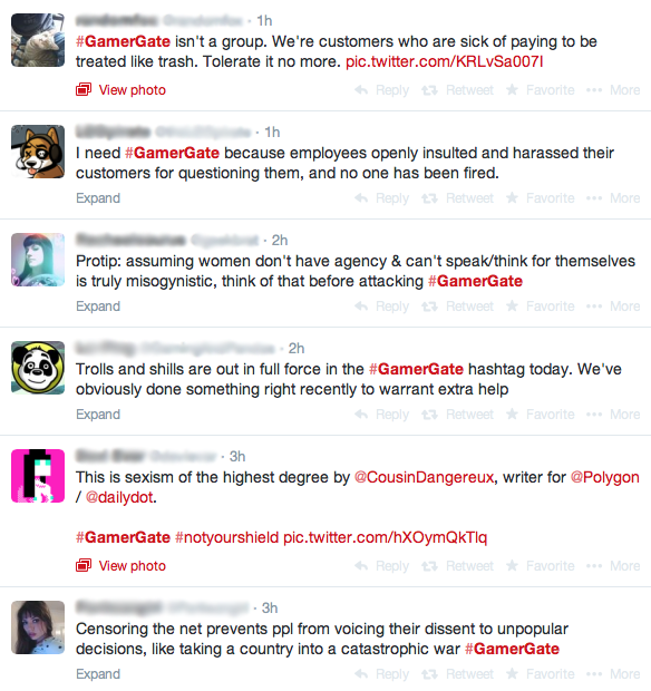 Gamers voiced their opinions online, forming an online community and #GamerGate