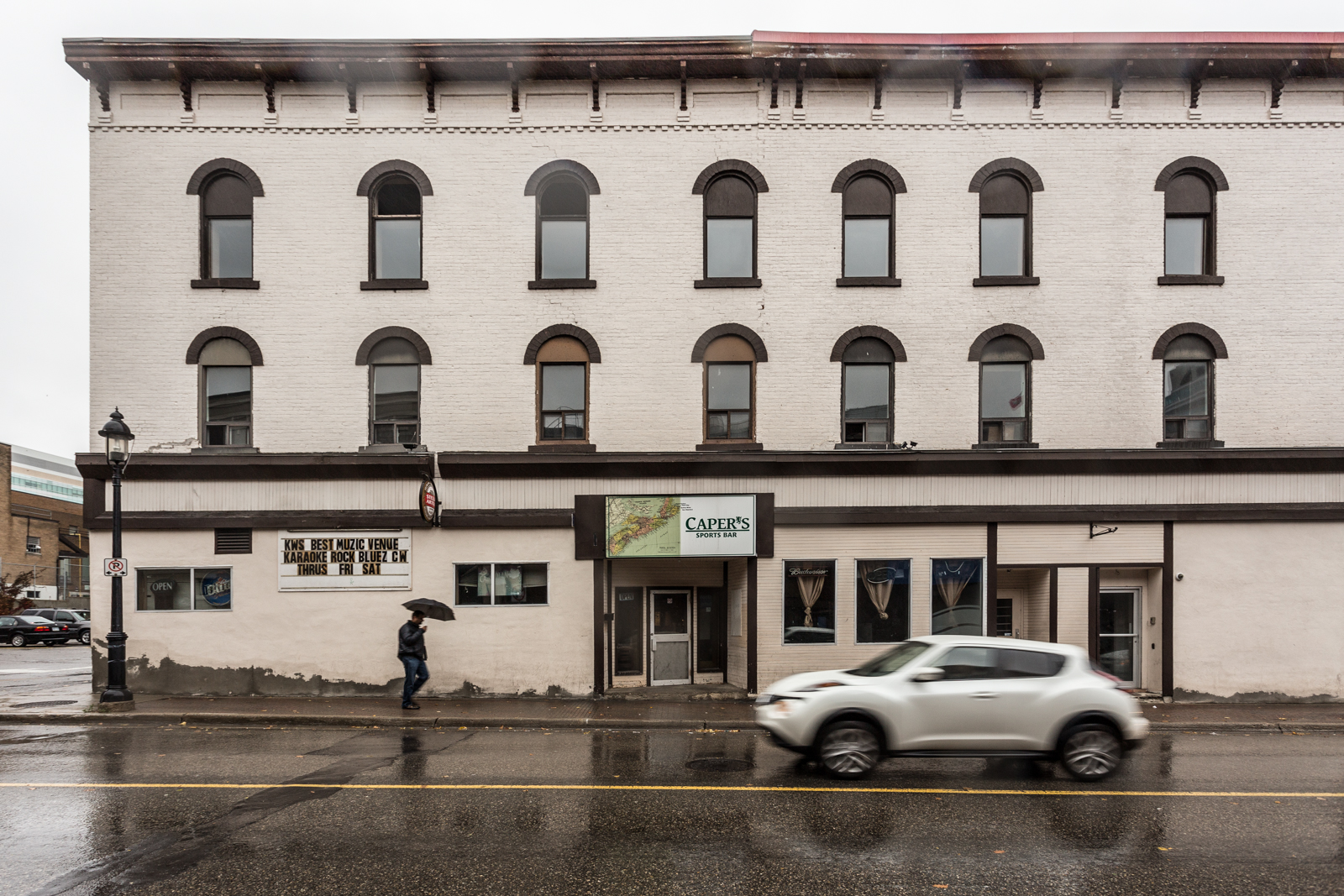 "Caper's Sports Bar is unlikely to survive redevelopment of the ""American Block,"" but owner Dominic Tortola has been left in the dark by the building's new owners, so far ""only going by what I see in the paper."""