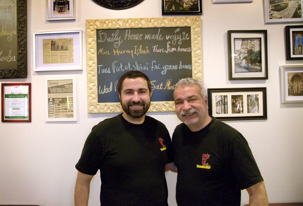 Jawad's and Asem Ghabra in their restaurant in Waterloo.