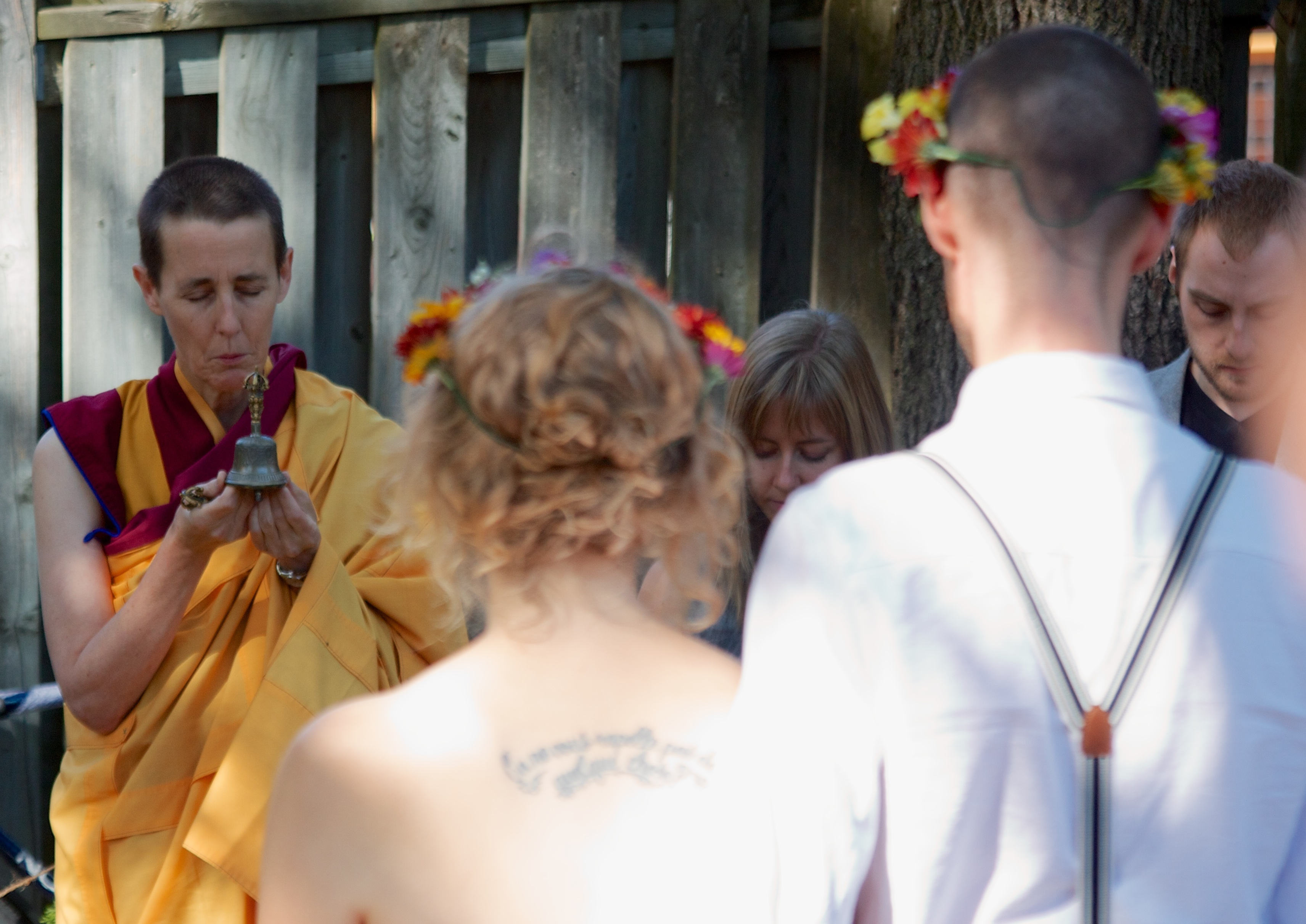The author's backyard Buddhist wedding in Waterloo this November.