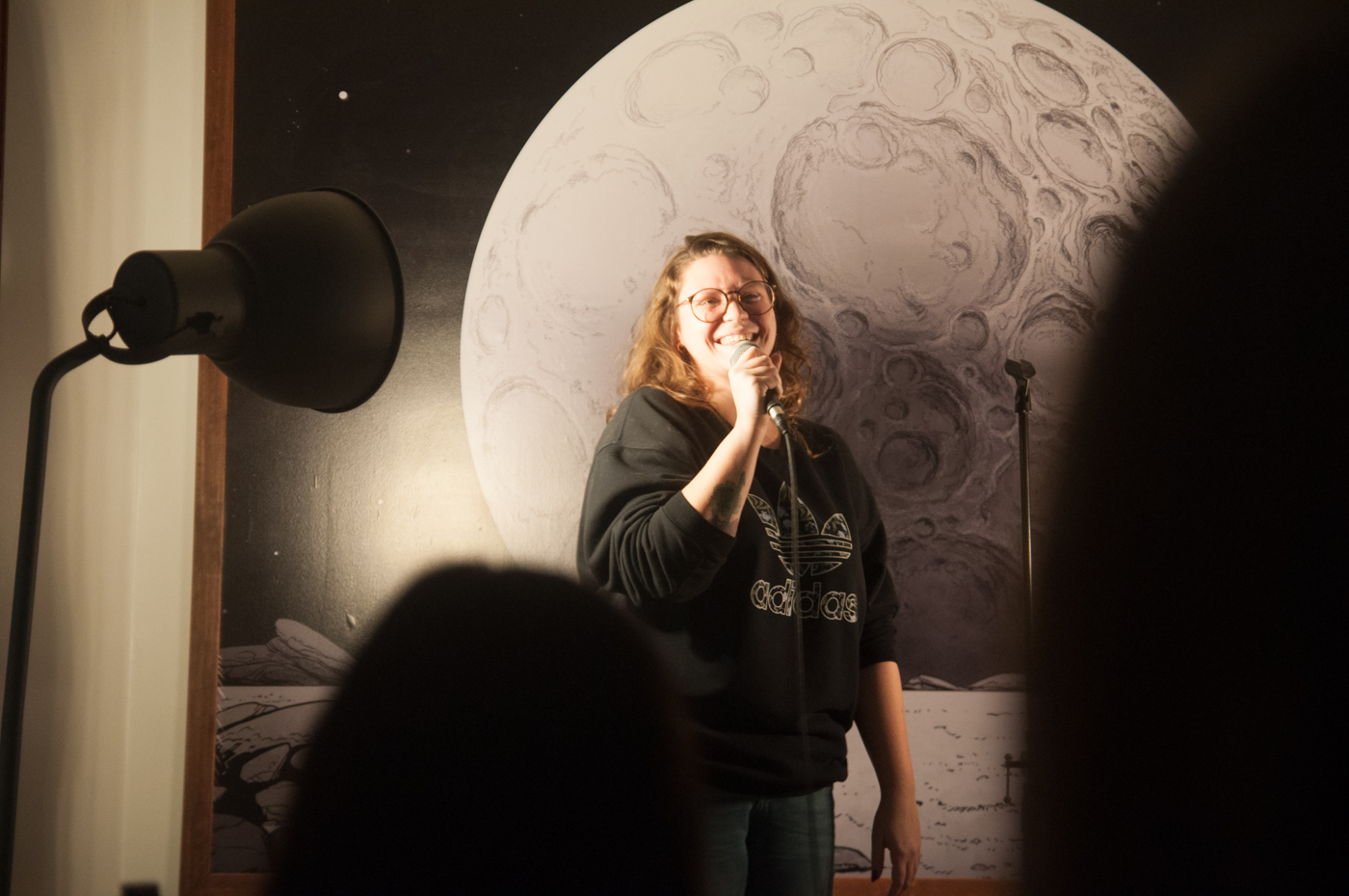Lauren Mitchell hosts comedy at the Princess Cafe.