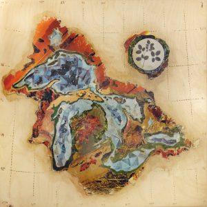 """""""Elevation of the Great Lakes Region"""" PHOTO COURTESY MEG HARDER"""