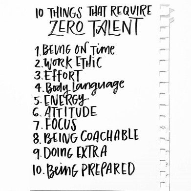 Versatile image inside 10 things that require zero talent printable